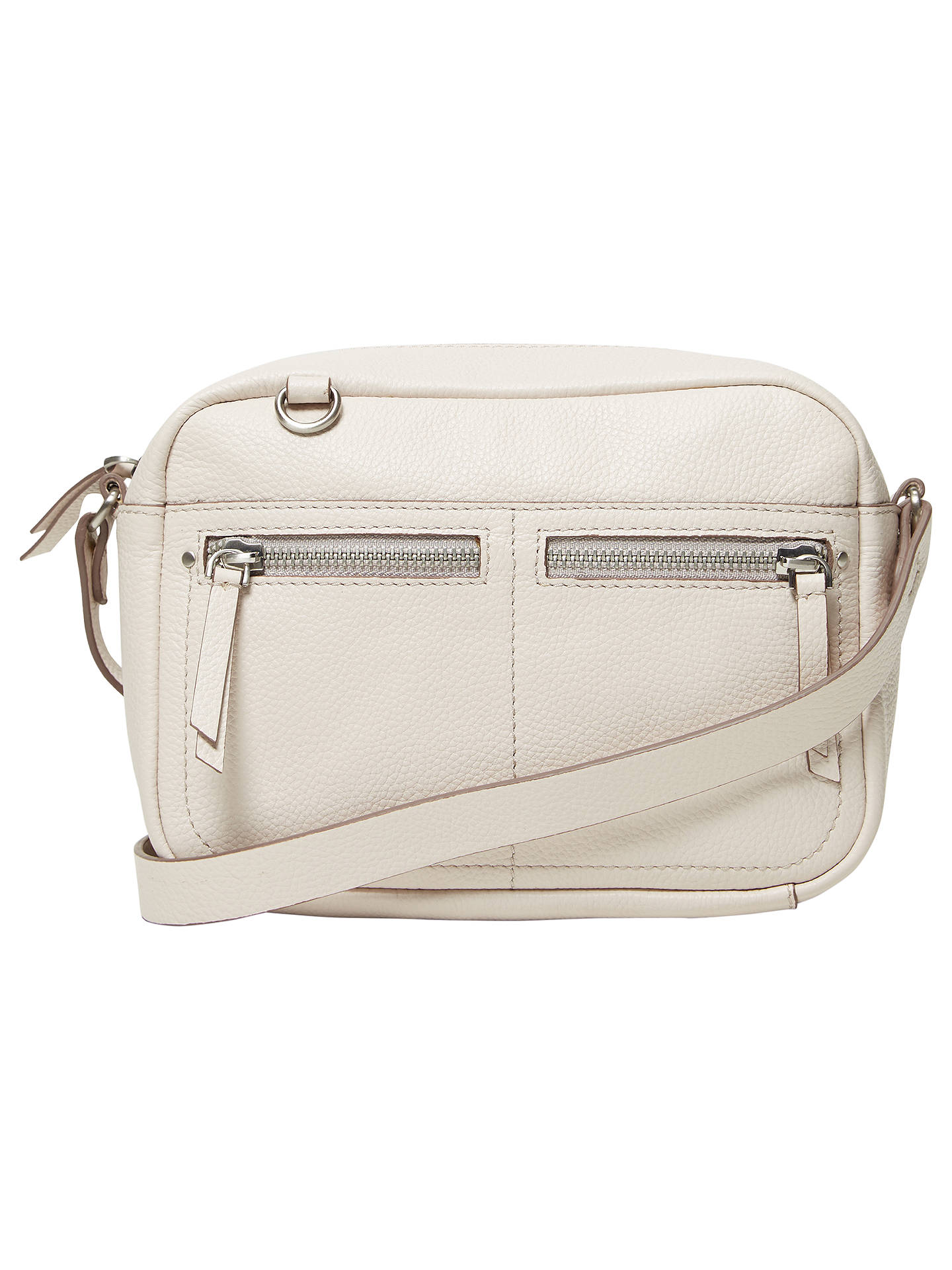 White Stuff Lily Leather Cross Body Bag Bone Online At Johnlewis