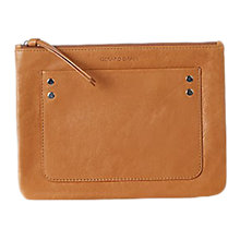 Buy Gerard Darel Pocket Leather Pouch, Camel Online at johnlewis.com