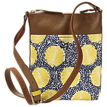 Buy White Stuff Equator Spot Canvas Cross Body Bag, Brooklyn Blue Online at johnlewis.com