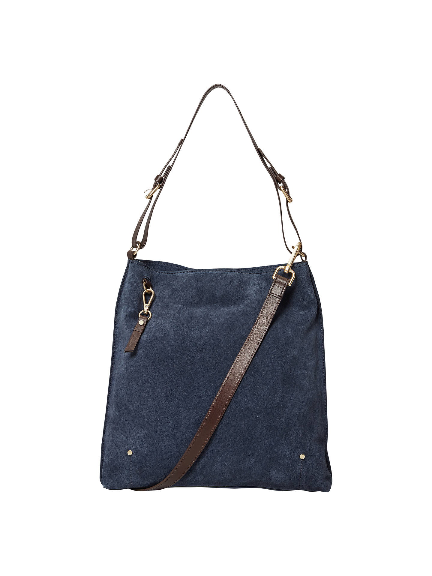 White Stuff Aurelia Suede Hobo Bag Navy Online At Johnlewis