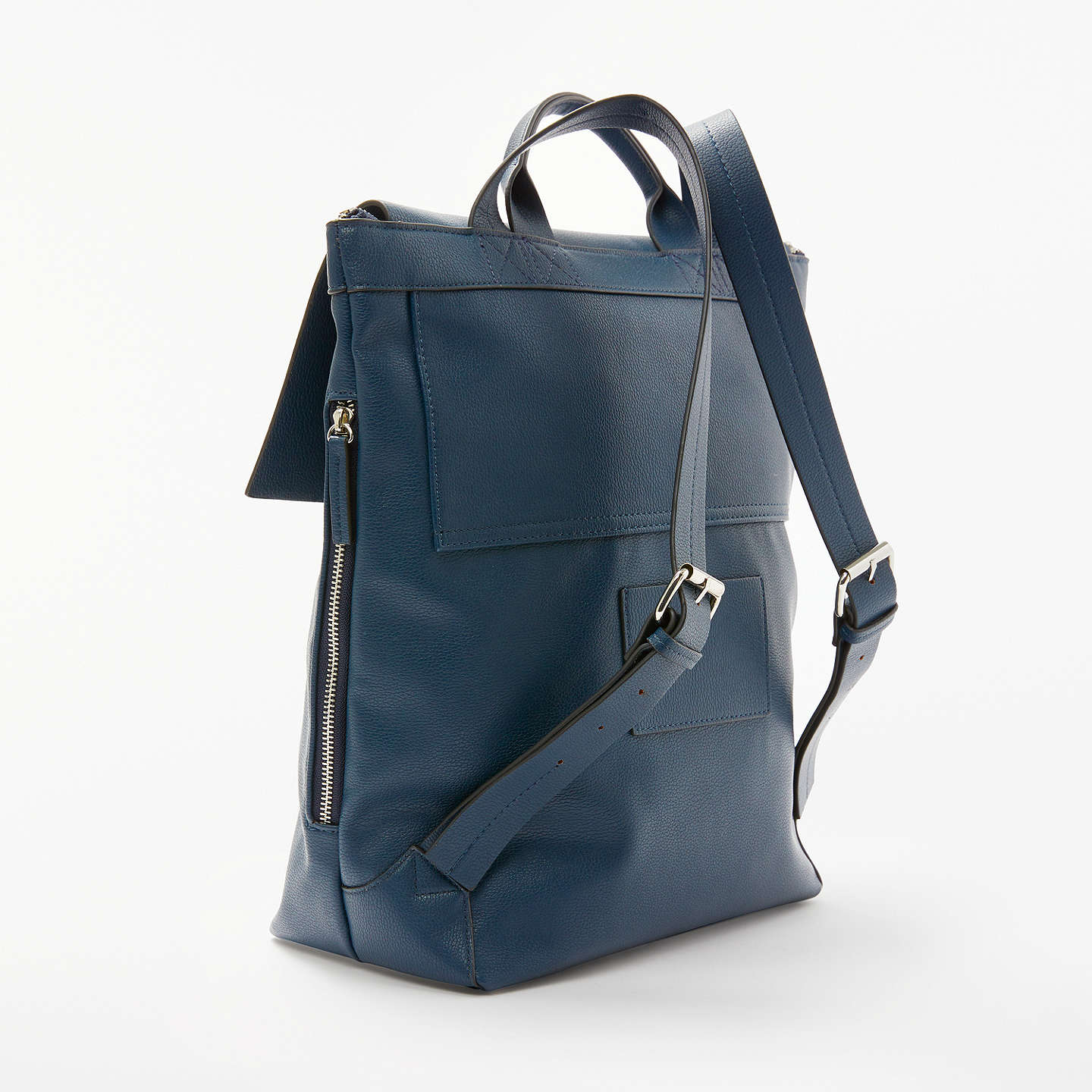 BuyKin by John Lewis Sia Foldover Backpack, Navy Online at johnlewis.com