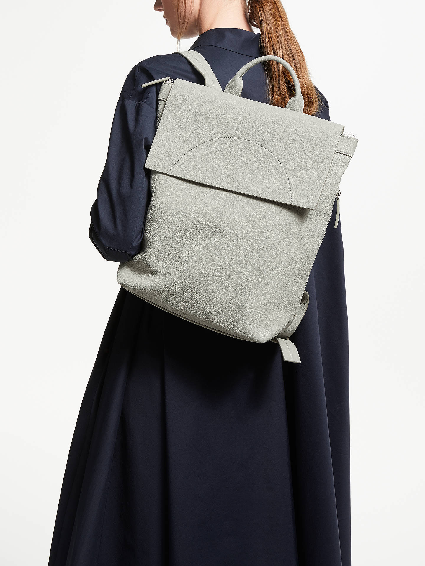 BuyKin Sia Foldover Backpack, Grey Online at johnlewis.com
