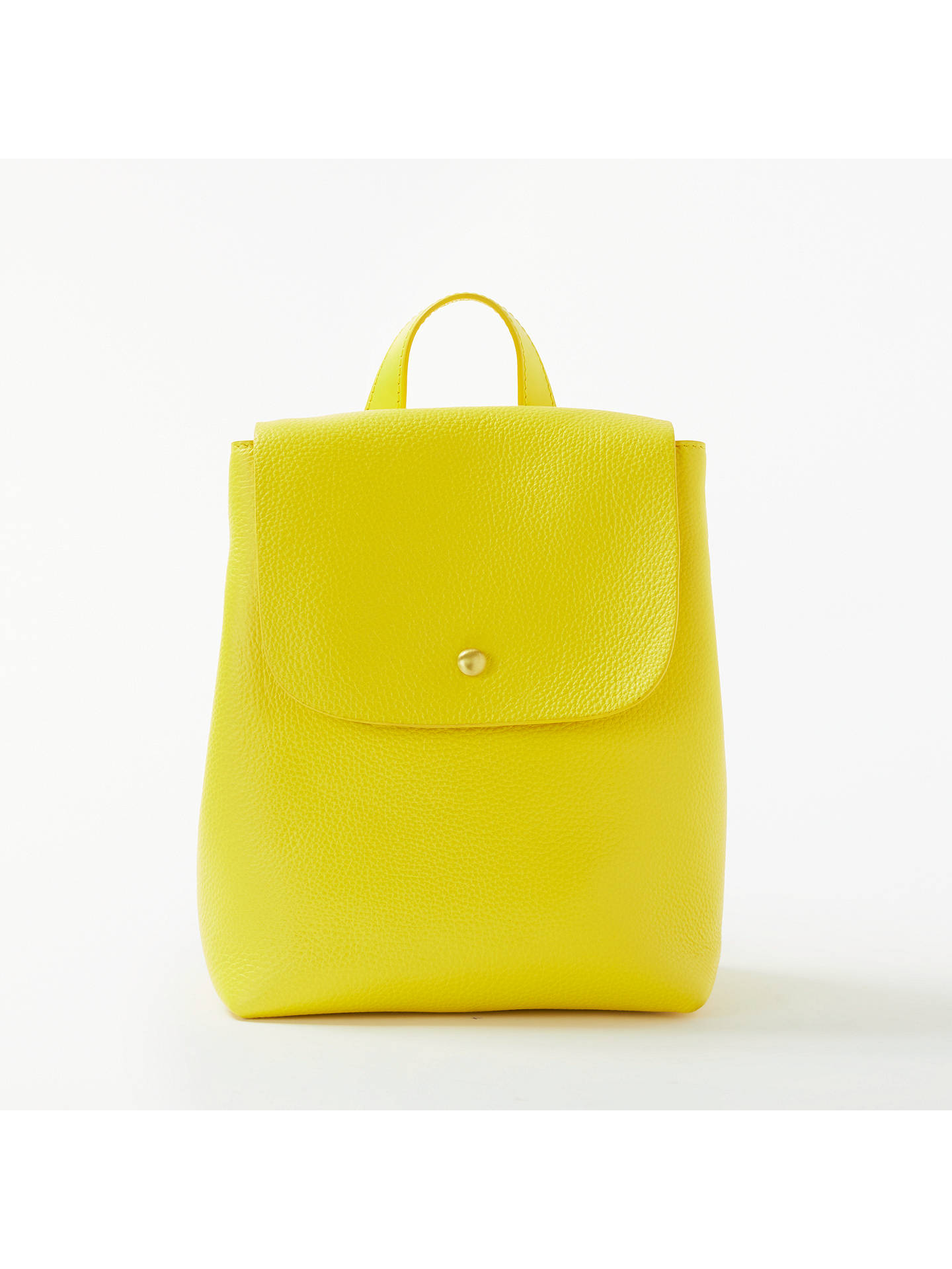 83f640e83 Buy John Lewis & Partners Rhea Leather Mini Backpack, Yellow Online at  johnlewis. ...