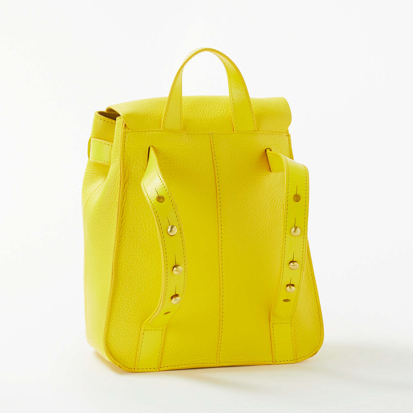 BuyJohn Lewis Rhea Leather Mini Backpack, Yellow Online at johnlewis.com