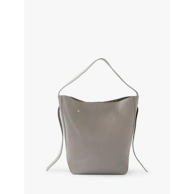 Modern Rarity Ribbon Large Leather Hobo Bag