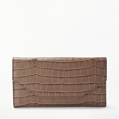 Modern Rarity Croc Effect Leather Purse