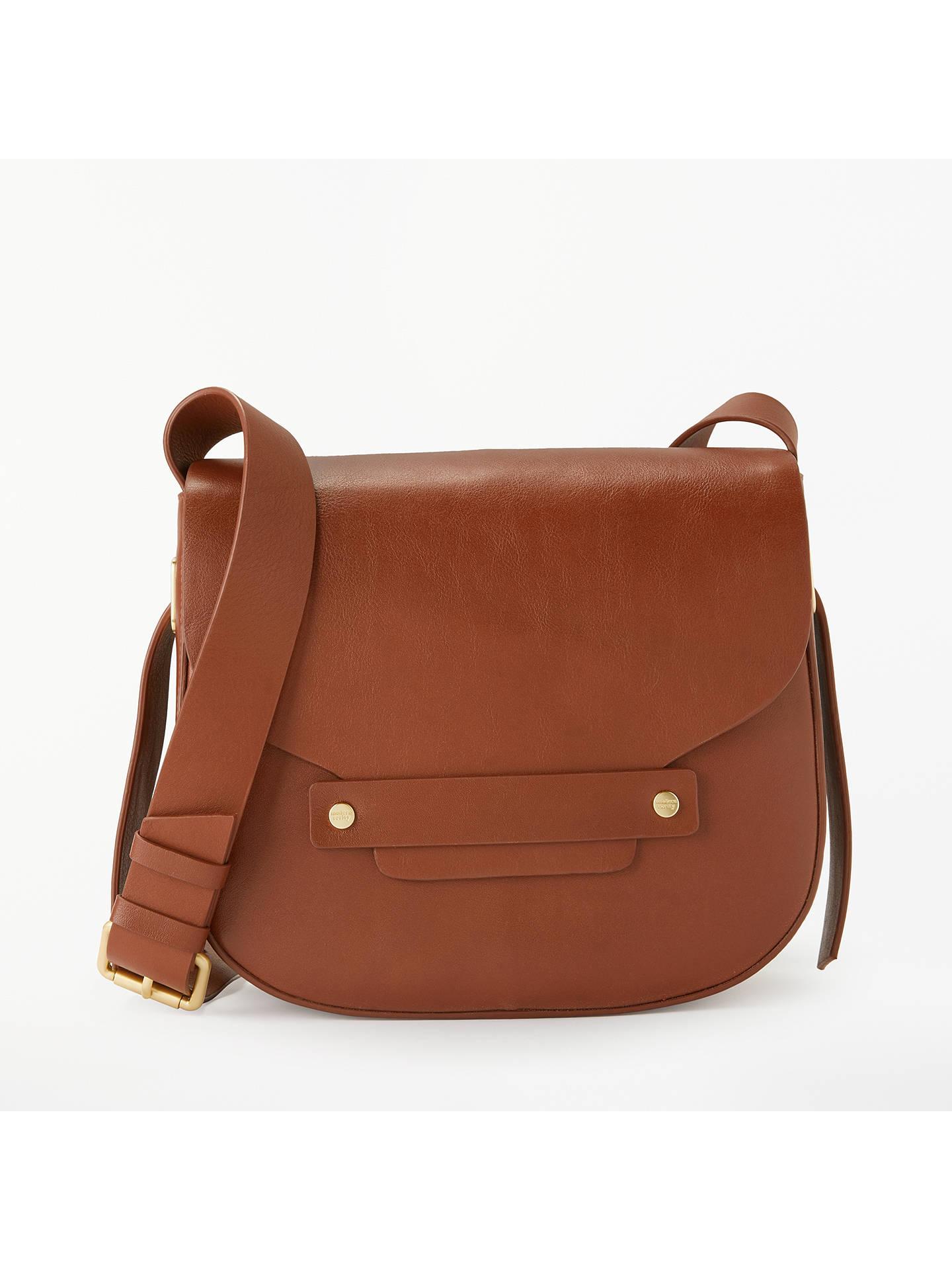 18a105396e7f Modern Rarity Ribbon Leather Saddle Bag, Tan