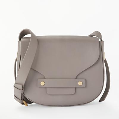 Modern Rarity Ribbon Leather Mini Saddle Bag
