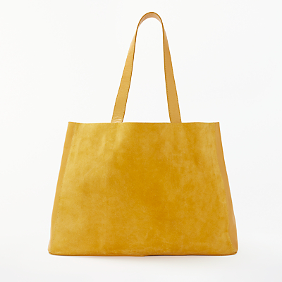 AND/OR Isabella Leather East/West Tote Bag, Ochre