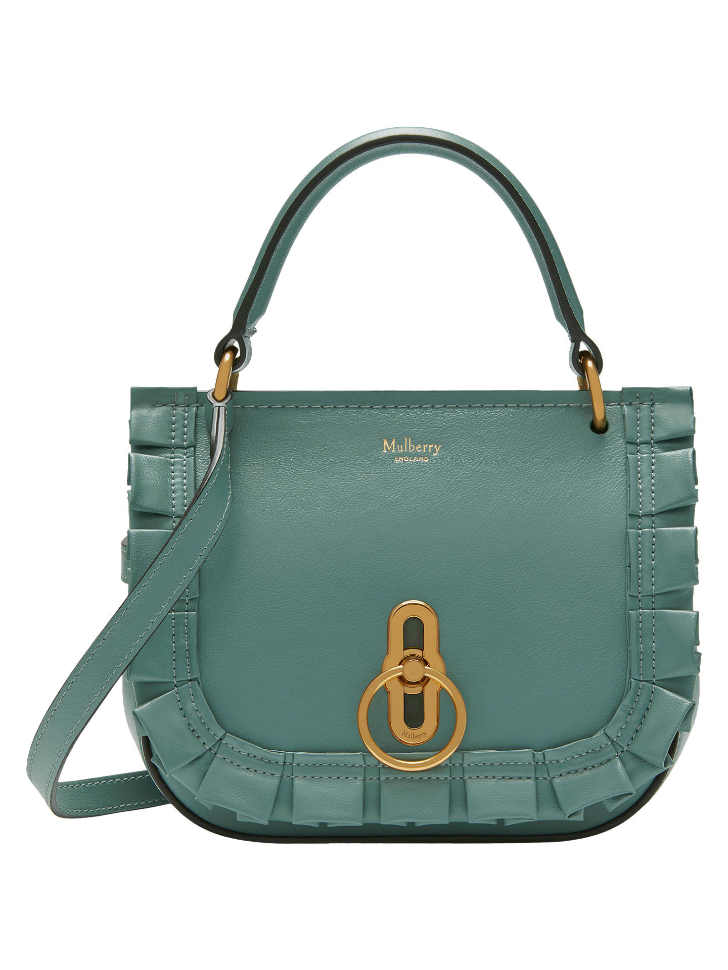 89b4173421 Mulberry Amberley Leather Small Frill Edge Satchel at John Lewis ...