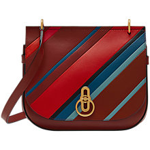 Buy Mulberry Amberley Leather Striped Cross Body Bag, Brick Online at johnlewis.com
