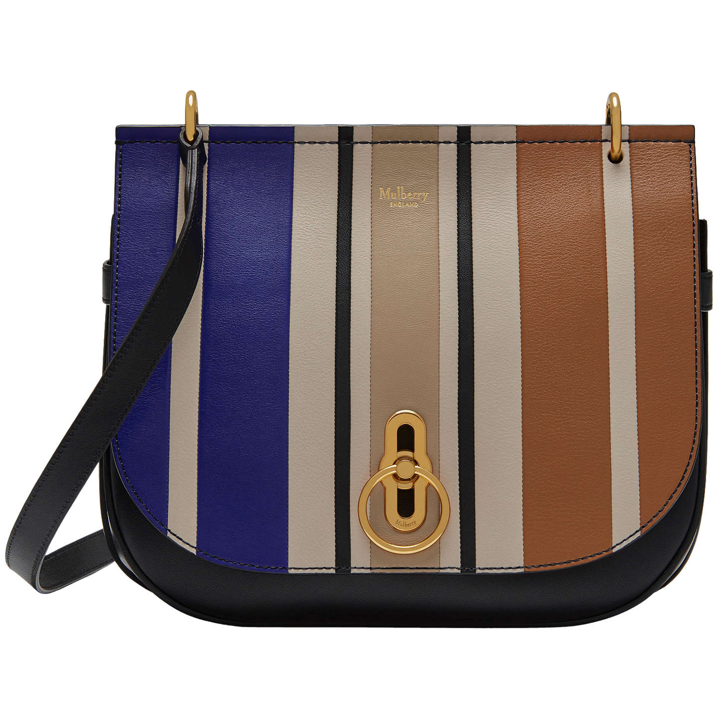 edf4589ce5a6 ... best lyst mulberry heritage messenger in black for men buymulberry  amberley leather vertical striped cross body