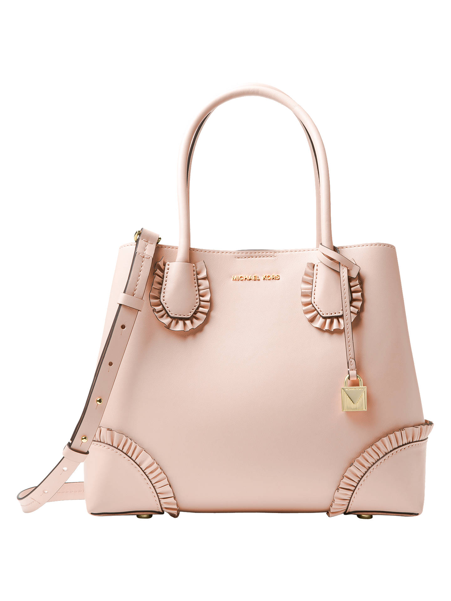 e94bccd98c80f9 Buy MICHAEL Michael Kors Mercer Gallery Large Leather Tote Bag, Soft Pink  Online at johnlewis ...