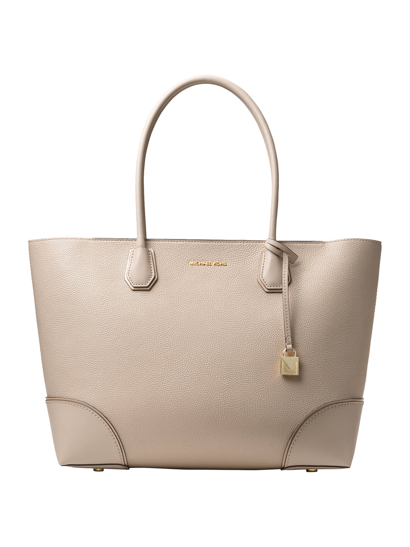 c9cf71bbe960 Buy MICHAEL Michael Kors Mercer Large East West Leather Tote Bag, Oat  Online at johnlewis ...
