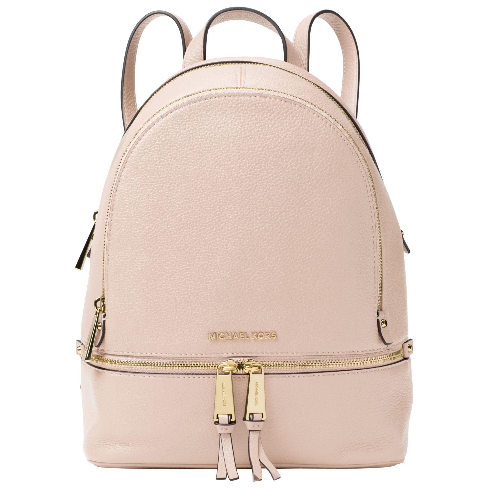 michael michael kors rhea leather backpack at john lewis partners rh johnlewis com