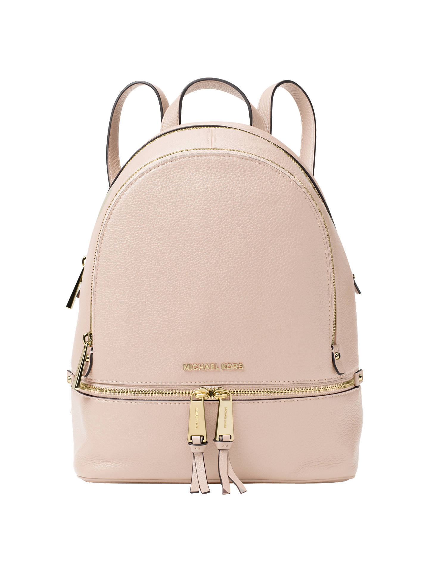 9aae38b9fafc MICHAEL Michael Kors Rhea Leather Backpack at John Lewis   Partners