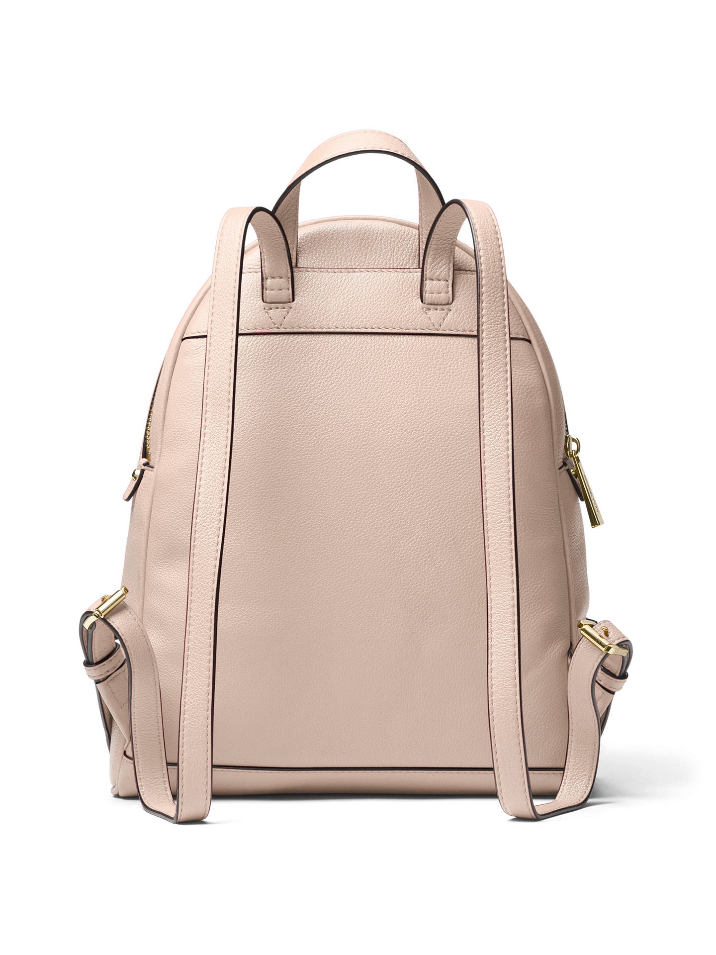 BuyMICHAEL Michael Kors Rhea Leather Backpack, Soft Pink Online at johnlewis.com