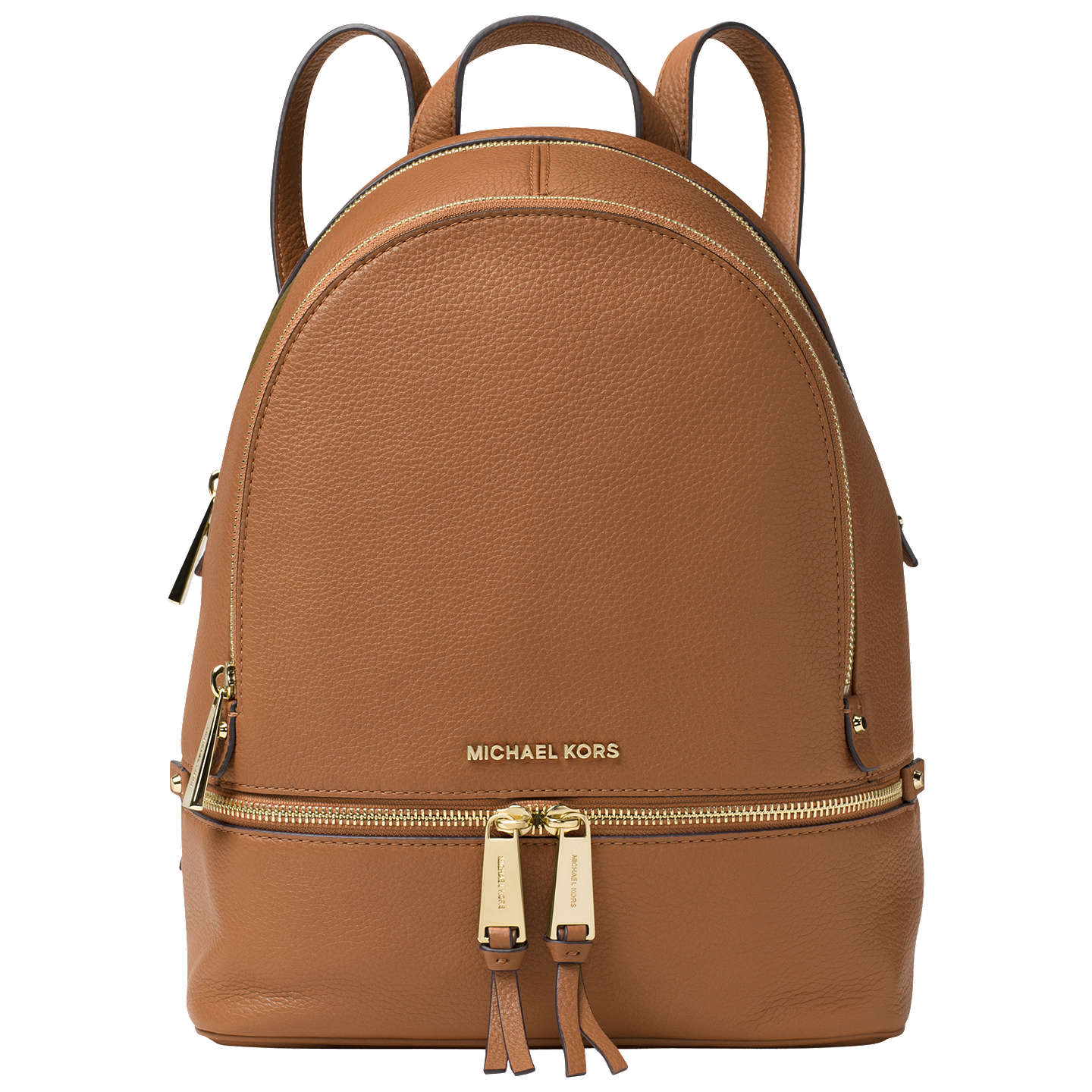 BuyMICHAEL Michael Kors Rhea Leather Backpack, Acorn Online at johnlewis.com