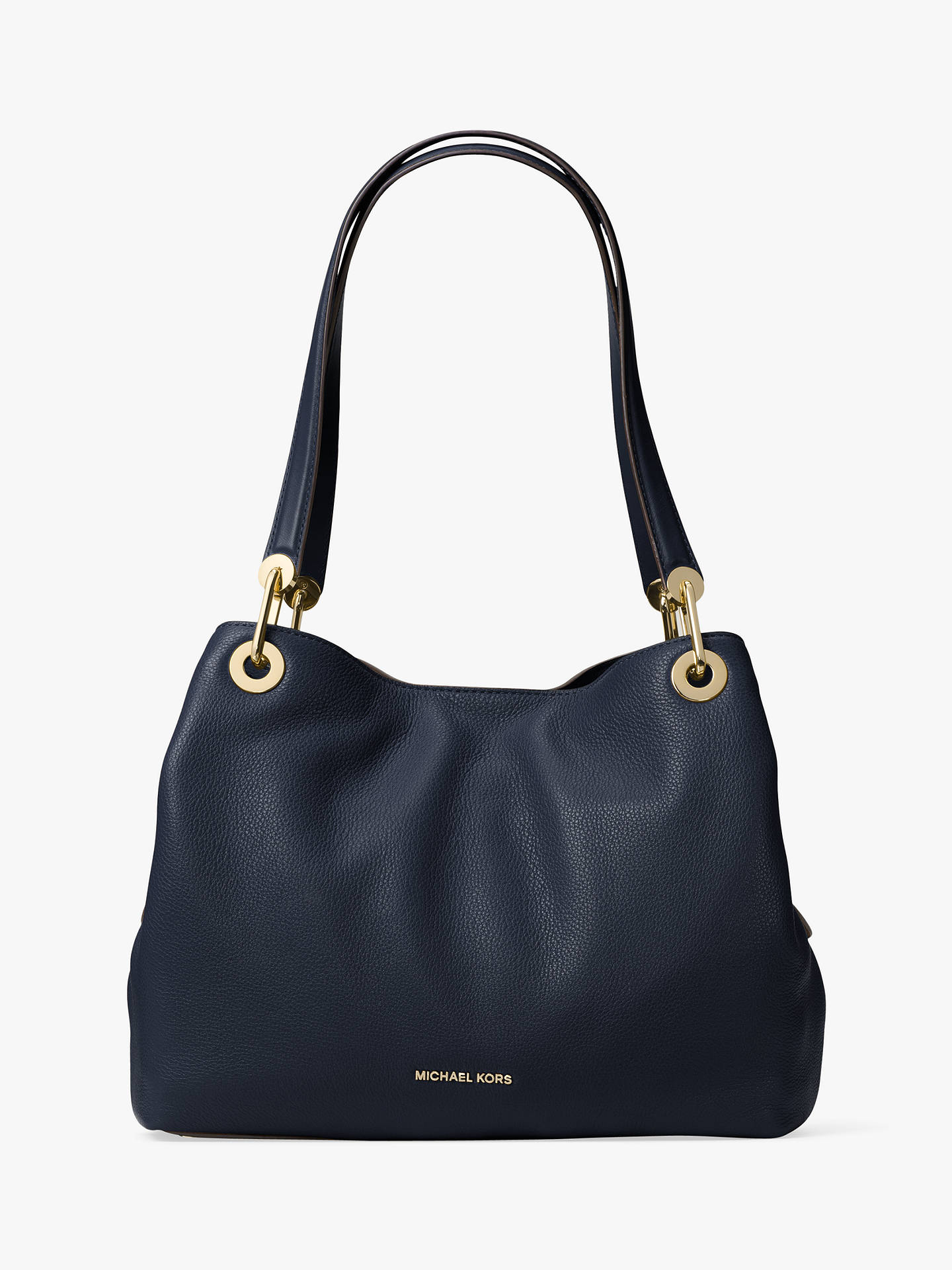 eeb990b5c2cf MICHAEL Michael Kors Raven Leather Large Shoulder Bag at John Lewis ...
