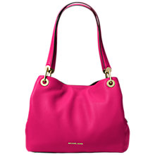 Buy MICHAEL Michael Kors Raven Leather Large Shoulder Bag Online at johnlewis.com
