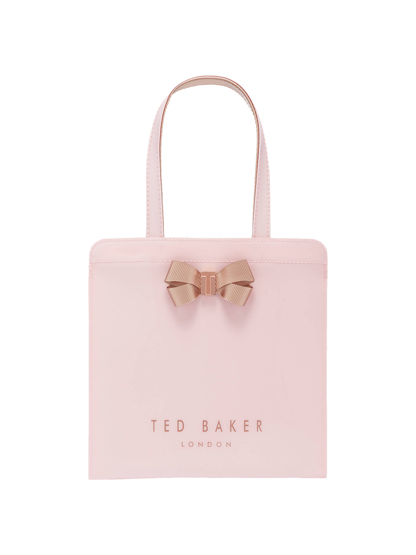 f83d0385216063 Ted Baker Kriscon Bow Small Icon Shopper Bag at John Lewis   Partners