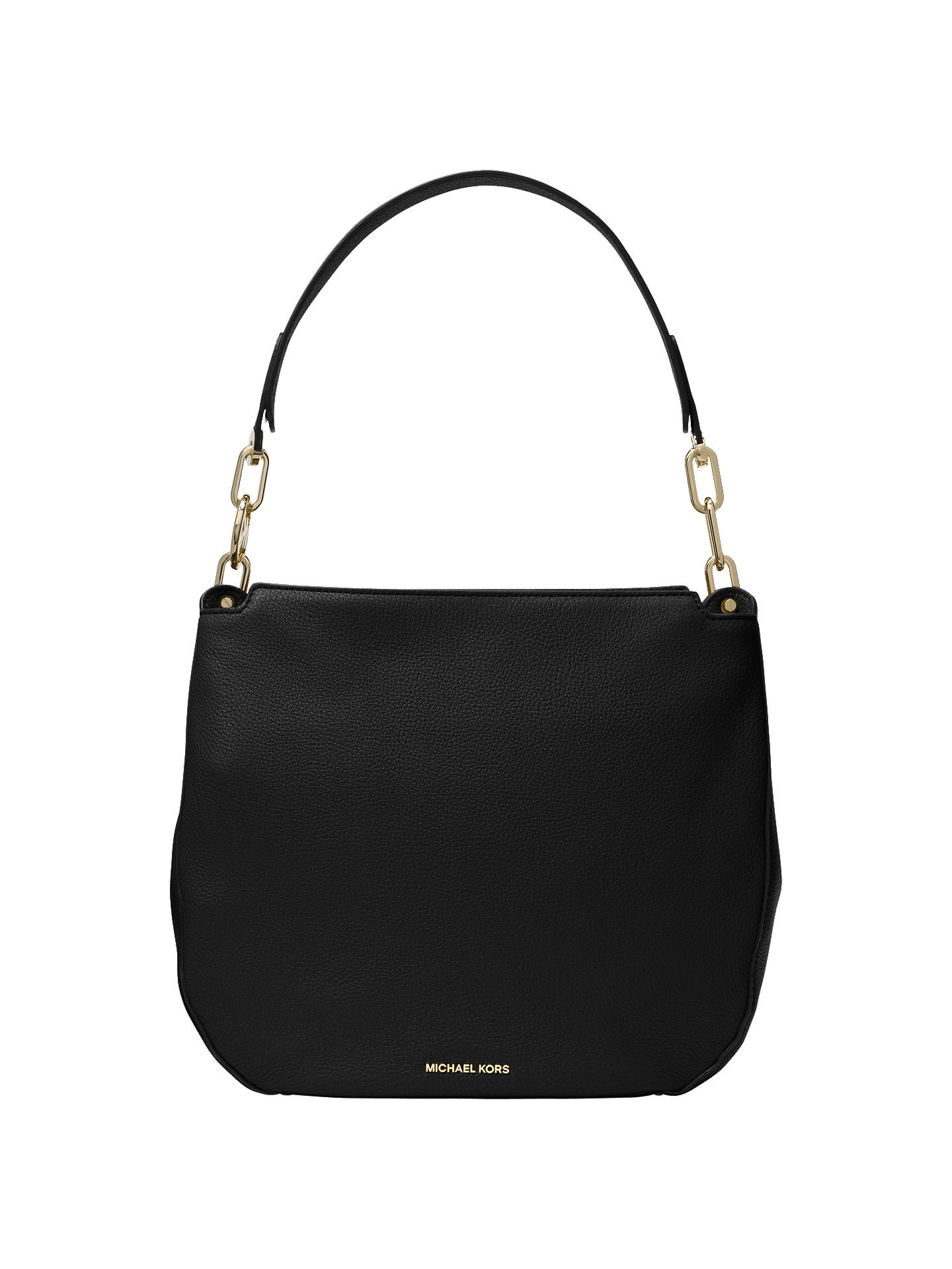 eba26005dda5 Buy MICHAEL Michael Kors Fulton Large Leather Hobo Bag, Black Online at  johnlewis.com ...