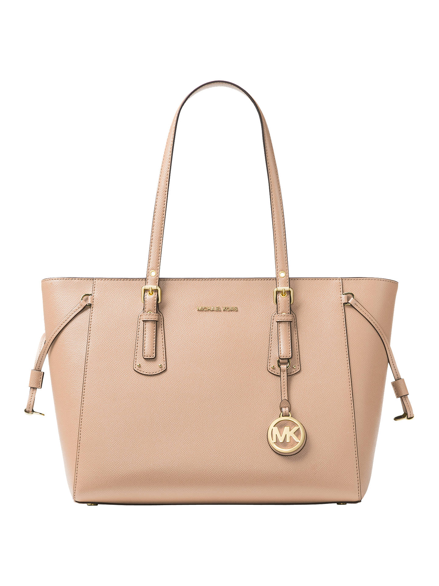 32562b37acf MICHAEL Michael Kors Voyager Leather Medium Tote Bag, Soft Pink