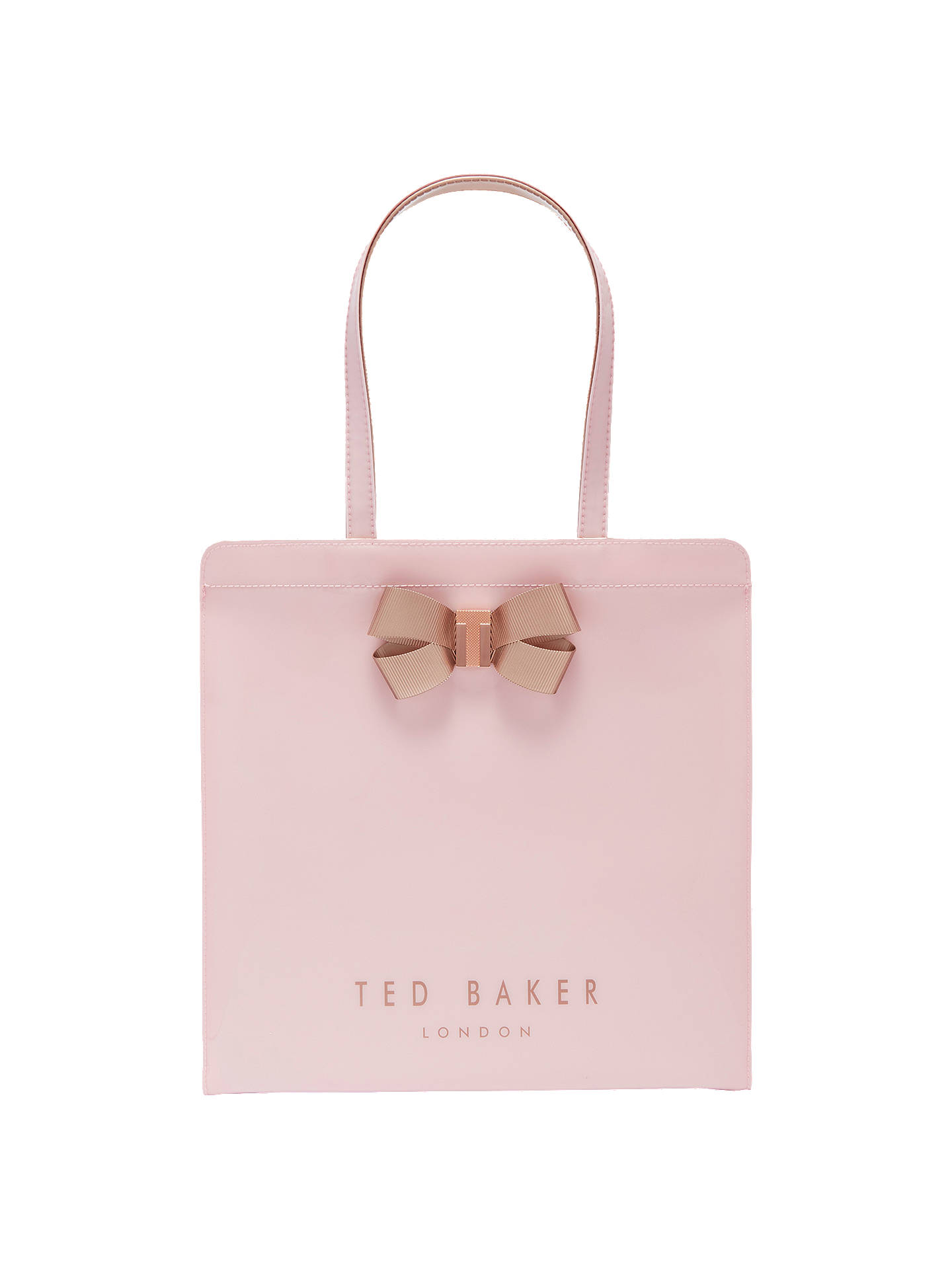 bb96934b12e0 Ted Baker Vallcon Bow Large Icon Shopper Bag at John Lewis   Partners