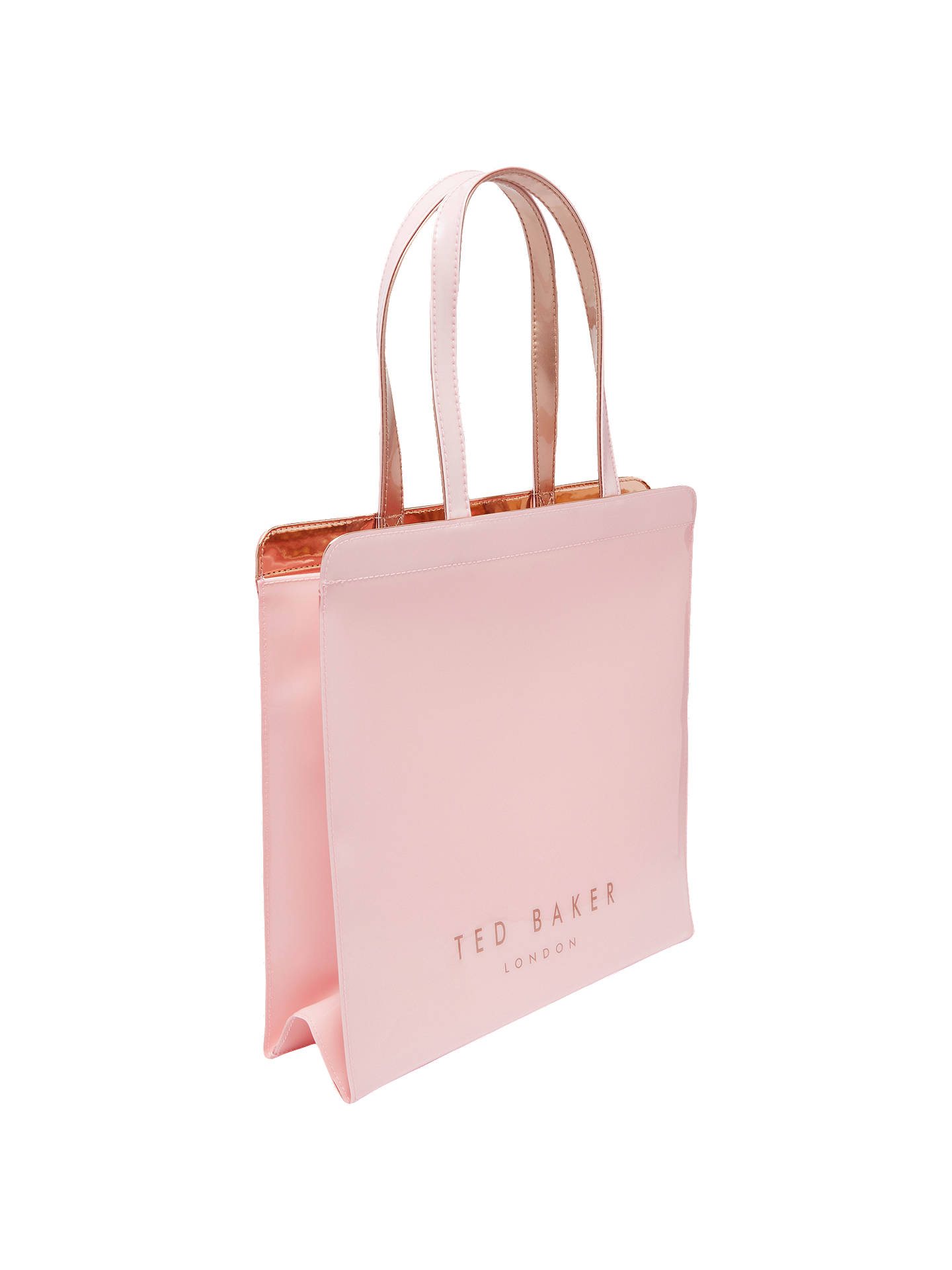 3cd2f09fd29 Buy Ted Baker Vallcon Bow Large Icon Shopper Bag, Pale Pink Online at  johnlewis.