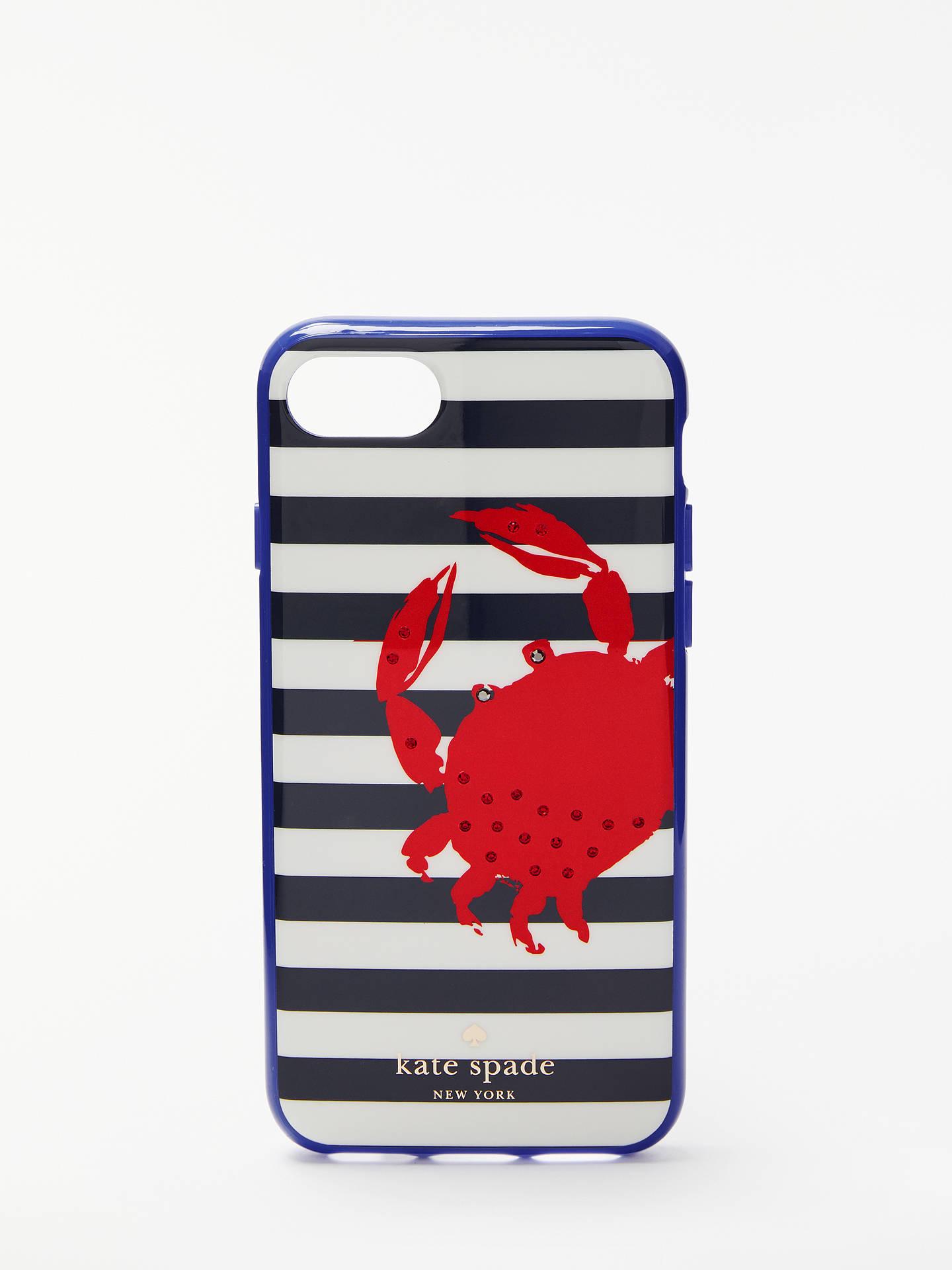 finest selection c0baf cd90b kate spade new york Stripe Crab iPhone 7 Case, Multi at John Lewis ...