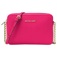 Buy MICHAEL Michael Kors Jet Set Travel Leather East / West Cross Body Bag Online at johnlewis.com