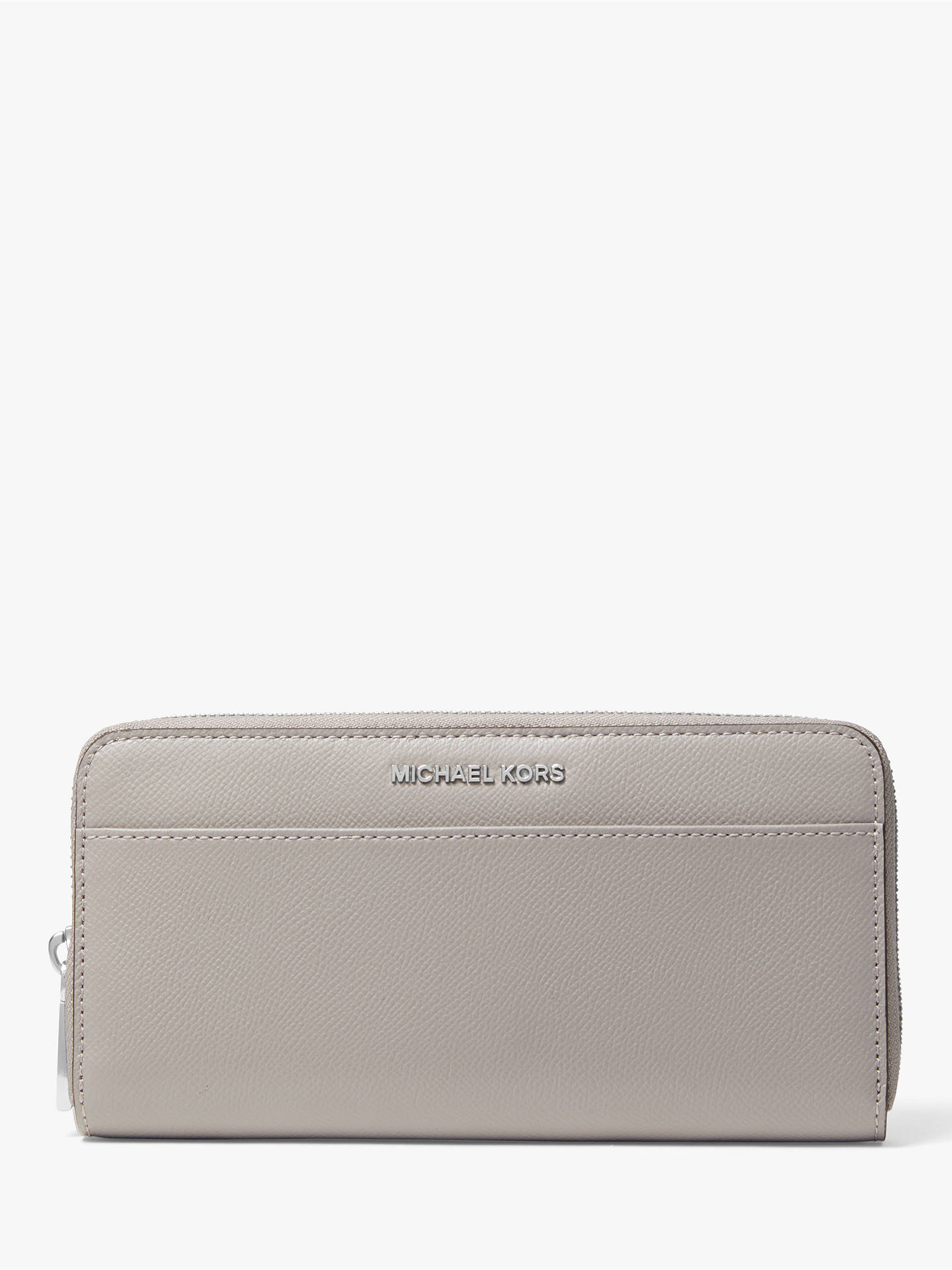 2908aa44e0de Buy MICHAEL Michael Kors Money Pieces Leather Continental Purse, Pearl Grey  Online at johnlewis.
