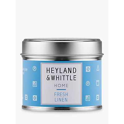 Heyland & Whittle Solutions Fresh Linen Candle, Blue