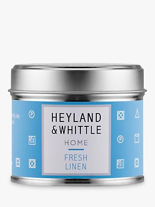 Heyland & Whittle Solutions Fresh Linen Scented Candle, Blue