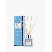 Buy Heyland & Whittle Solutions Fresh Linen Diffuser, 100ml, Blue Online at johnlewis.com