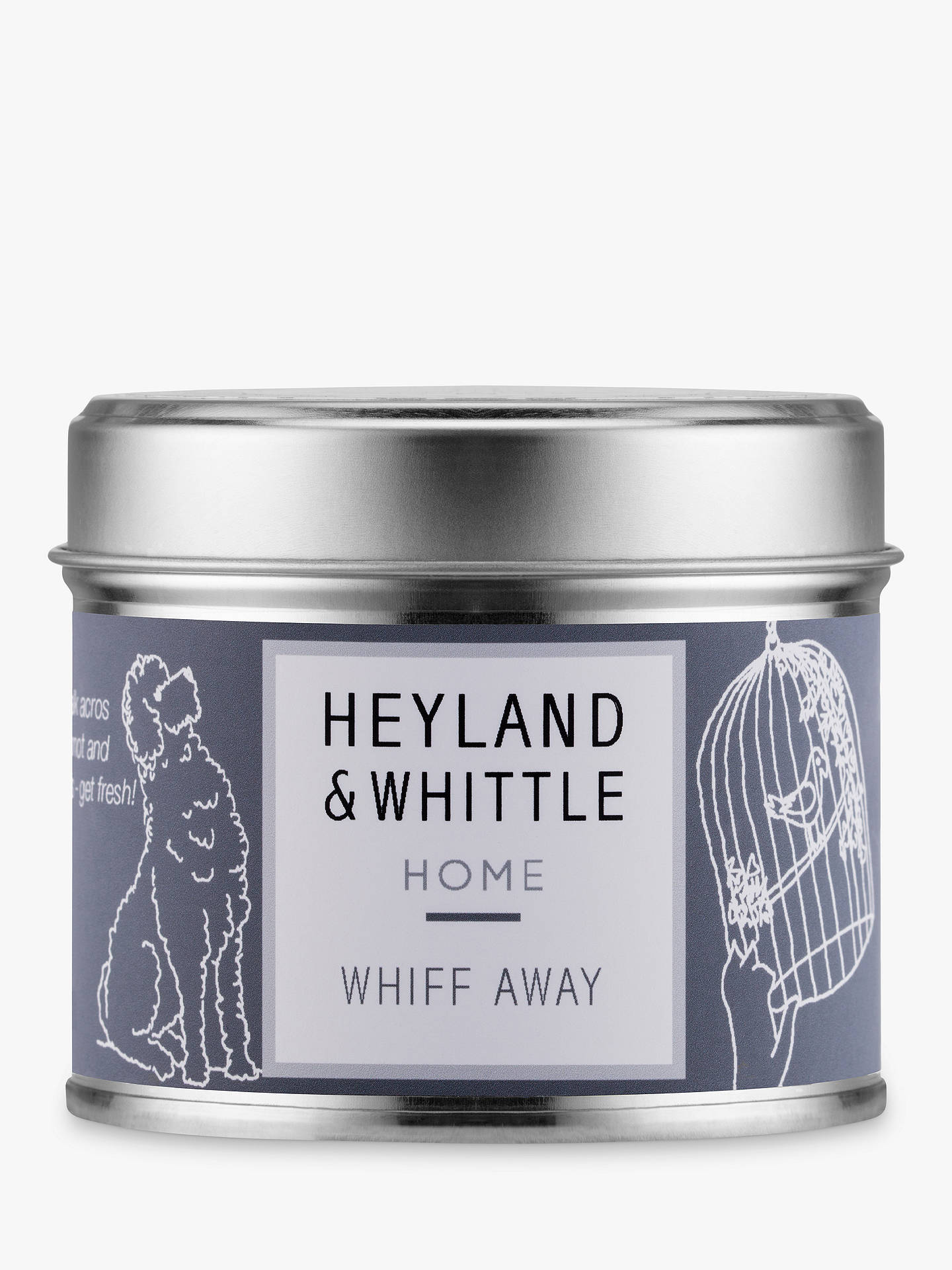 BuyHeyland & Whittle Solutions Whiff Away Scented Candle, Grey Online at johnlewis.com