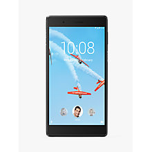 "Buy Lenovo Tab 7 Essential Tablet, Android N, Wi-Fi, 1GB RAM, 16GB, 7"", Black Online at johnlewis.com"