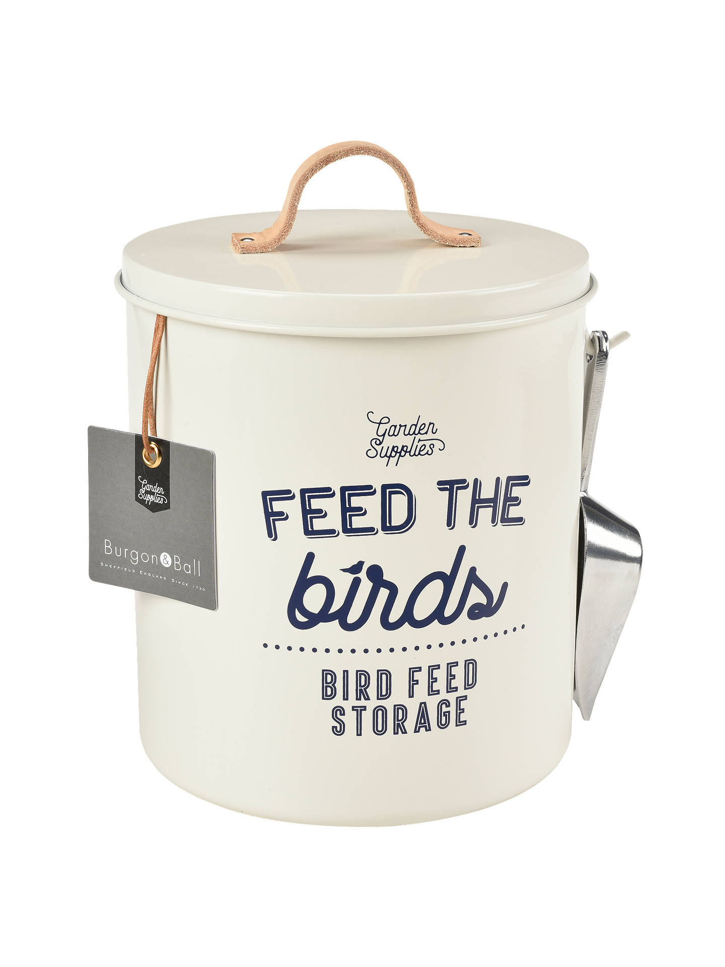 Buy Burgon & Ball Enamel Bird Feed Tin, Cream Online at johnlewis.com