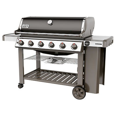 Image of Weber Genesis II E-610 GBS 6 Burner Gas BBQ, Black