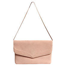 Buy Phase Eight Abi Fold Over Suede Clutch Bag, Pink Cameo Online at johnlewis.com