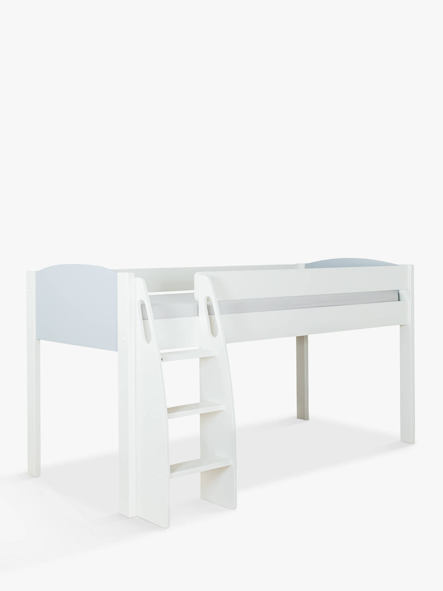 Buy Stompa Uno S Plus Mid-sleeper Bed Frame, White/Grey Online at johnlewis.com