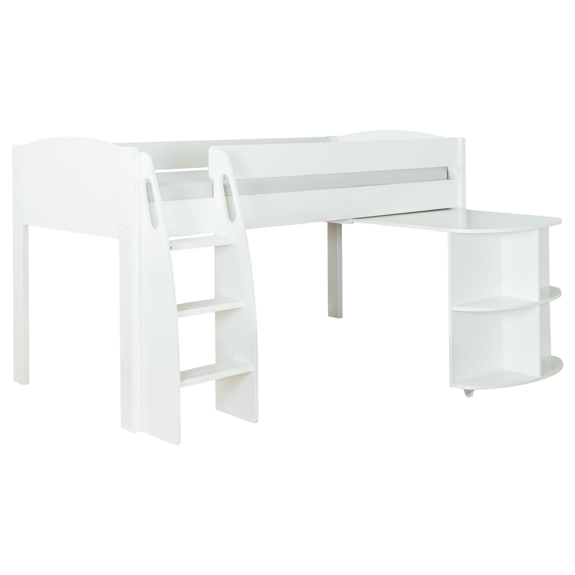 Stompa Stompa Uno S Plus Mid-Sleeper Bed Frame with Pull-Out Desk