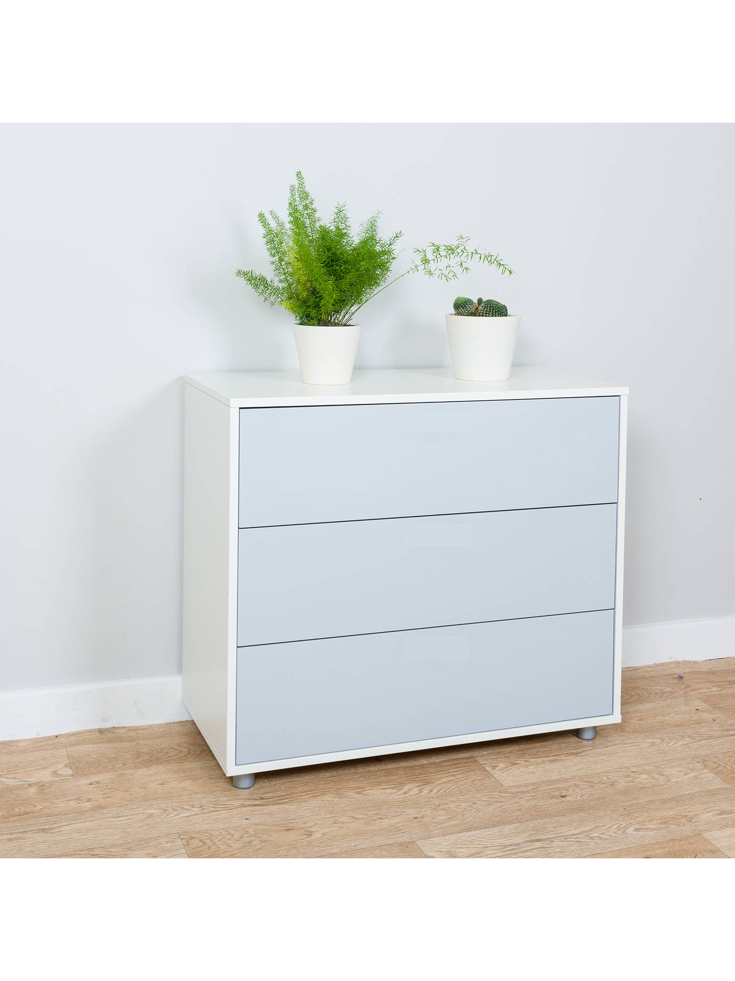 Buy Stompa Uno S Plus 3 Drawer Chest, Grey Online at johnlewis.com