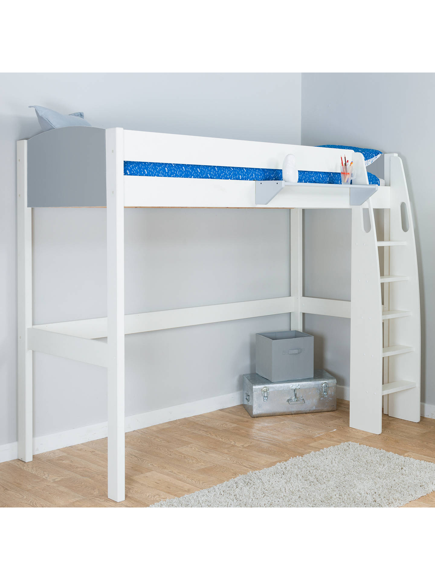 BuyStompa Uno S Plus High-Sleeper Bed Frame, Grey Online at johnlewis.com