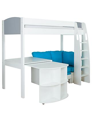 Stompa Uno S Plus High-Sleeper Bed with Pull-Out Desk and Chair Bed