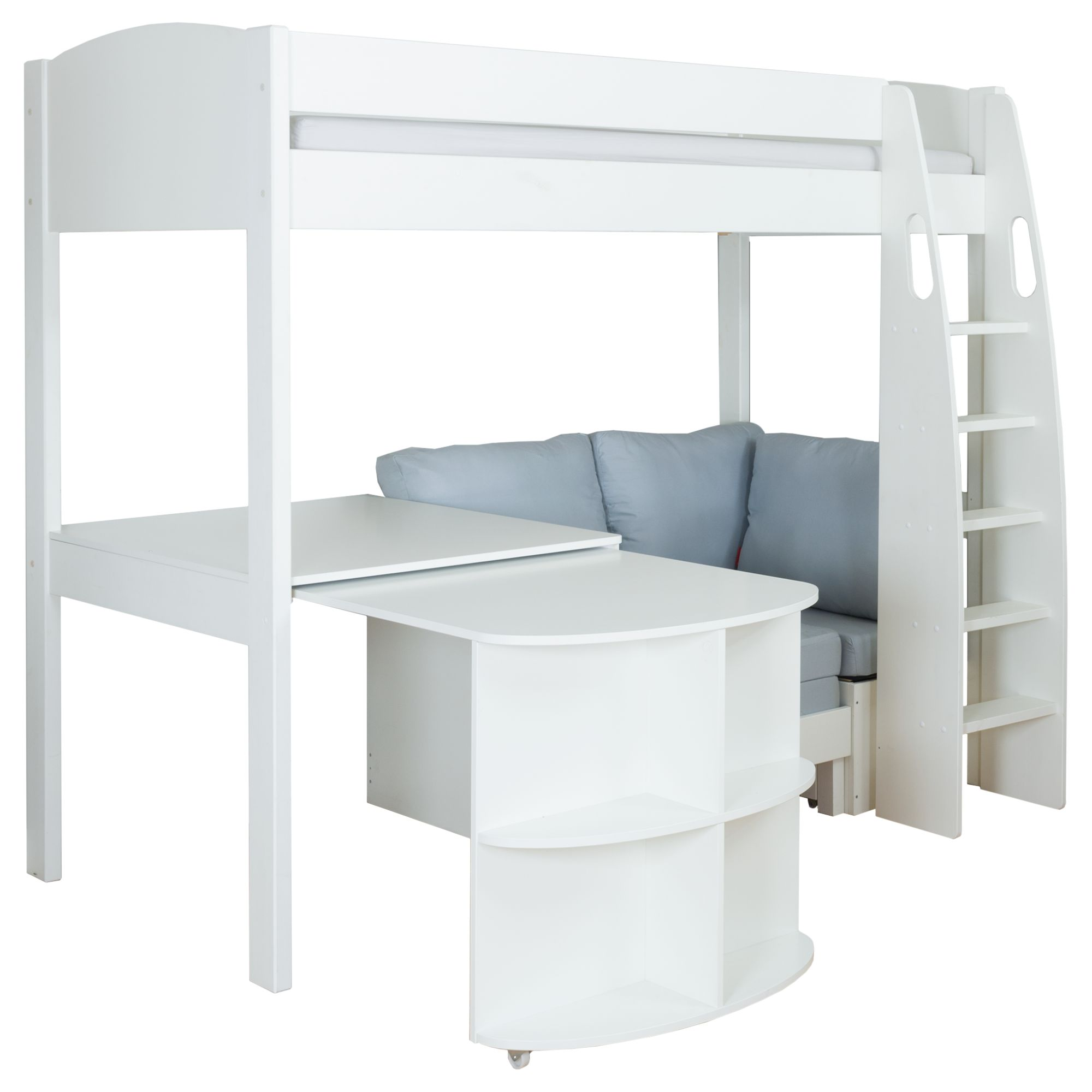 Stompa Stompa Uno S Plus High-Sleeper Bed with Pull-Out Desk and Chair Bed