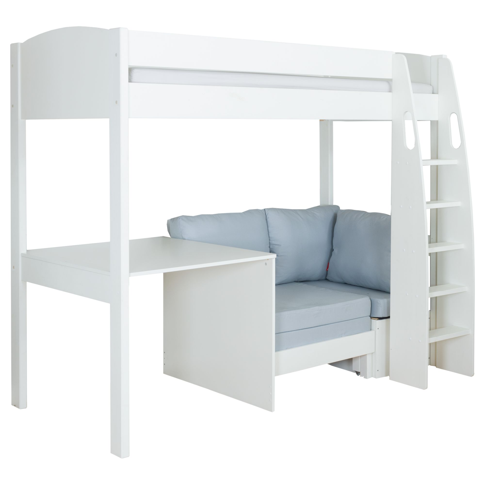 Stompa Stompa Uno S Plus High-Sleeper Bed with Fixed Desk and Chair Bed