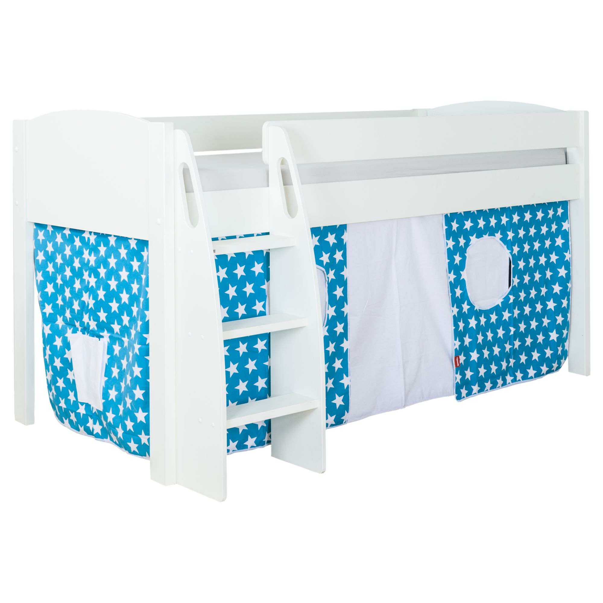 Picture of: Stompa Uno S Plus Mid Sleeper Bed With White Headboard And Star Print Tent At John Lewis Partners