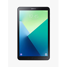 "Buy Samsung Galaxy Tab A Tablet, Android N, 10.1"", 32GB + 128GB Micro SD, Wi-Fi, Grey Online at johnlewis.com"