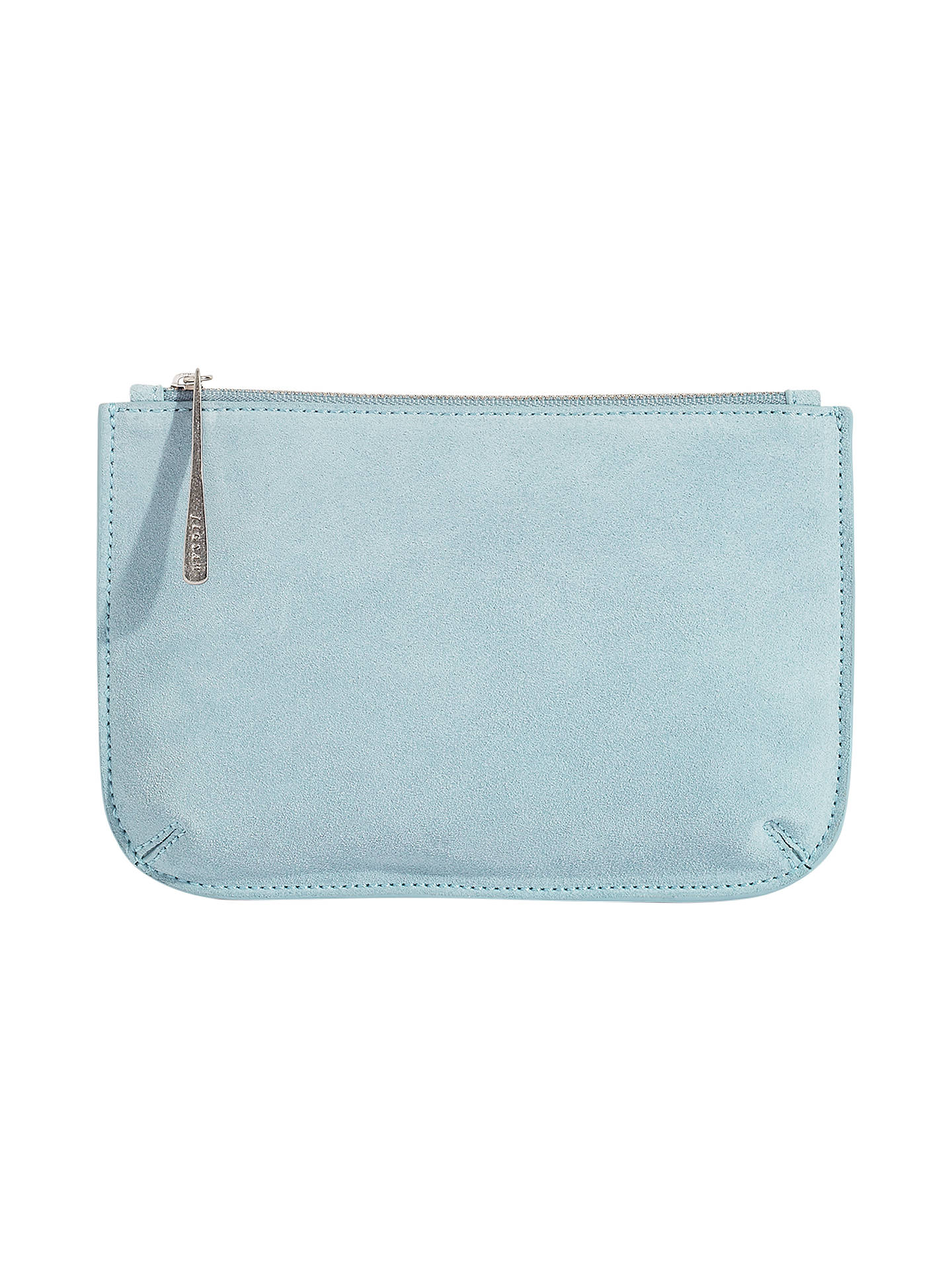 9f03bc35ff2 Buy Jigsaw Alba Medium Textured Leather Pouch, Blossom Blue Online at  johnlewis.com ...